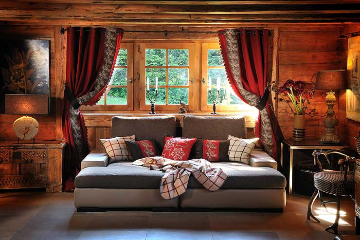 d coration de chalet scandinave ou savoyarde. Black Bedroom Furniture Sets. Home Design Ideas